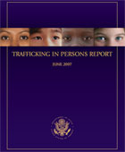 Cover of the Trafficking in Persons Report June 2007.
