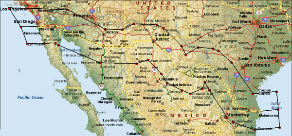 us mexico sharing zone the sharing zone is defined as the areas covered by a