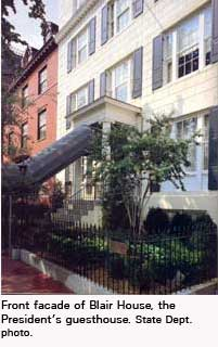 Photo of Blair House, the Presidents guesthouse in Washington, DC. State Dept photo.