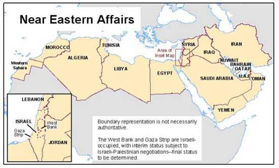 Middle East And Africa Map.Middle East And North Africa