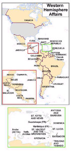 Regional map of Western Hemisphere Affairs.