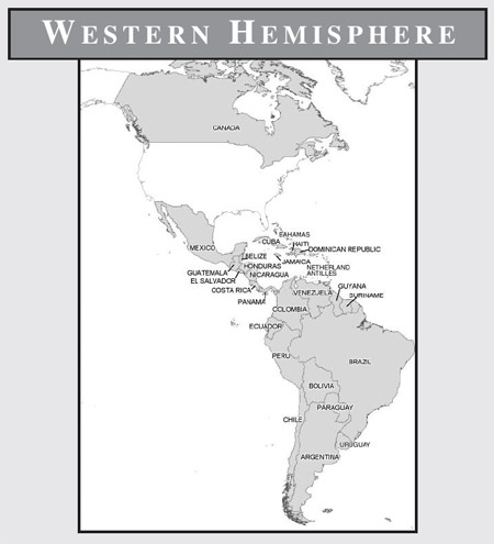 photo about Western Hemisphere Map Printable known as V. Maps (With Community Legislation Enforcement Studies)