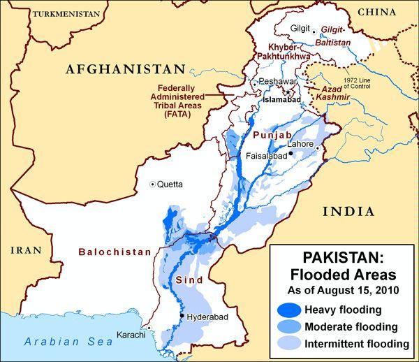 Area Maps Of Pakistan Flooding - Flood map of us