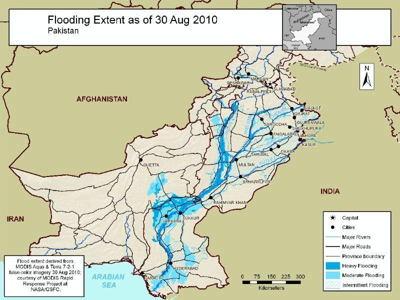 Area Maps Of Pakistan Flooding - Maps of pakistan
