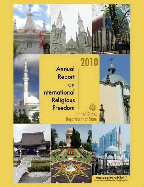 Date: 11/12/2010 Description: Cover of the 2010 International Religious Freedom report - State Dept Image