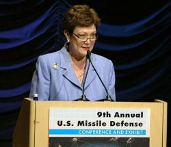 Date: 03/21/2011 Description: Under Secretary Tauscher delivers remarks at the Ninth Annual U.S. Missile Defense Agency Conference. - State Dept Image