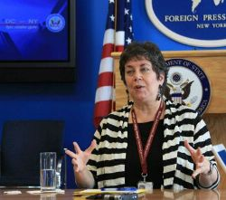 Date: 05/03/2011 Location: New York, NY Description: Hannah Rosenthal, Special Envoy to Monitor and Combat Anti-Semitism briefs on the U.S. Government's policy regarding anti-semitism at the New York Foreign Press Center. - State Dept Image