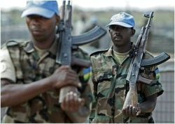 Date: 2011 Description: Rwandan Peacekeeping Troops engaged in drill (Darfur, Sudan). - State Dept Image