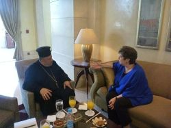 Date: 06/08/2011 Description: Meeting with Father Nabil Haddad in Amman, Jordan. - State Dept Image