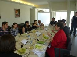 Date: 06/08/2011 Description: Lunch discussion with students from the University of Notre Dame, Beirut, Lebanon.  - State Dept Image