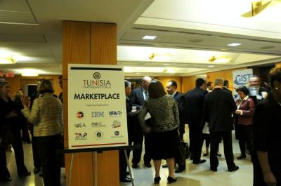 During the Tunisia Partnerships Forum, networking opportunities revolved around a marketplace that highlighted organizations interested in engaging business people in Tunisia.