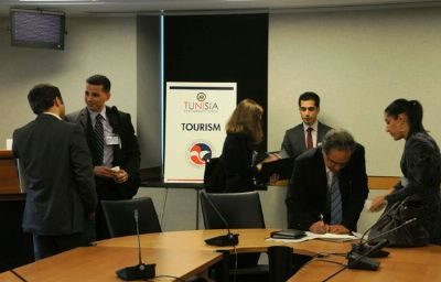 The Tunisia Partnerships Forum included breakout pitch sessions, focusing on tourism, trade, and information communications technology.