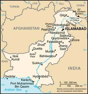Date: 01/04/2012 Description: Map of Pakistan. - State Dept Image