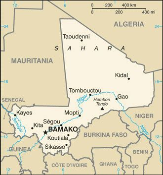 Date: 11/10/2011 Description: Map of Mali (Africa) © CIA World Factbook