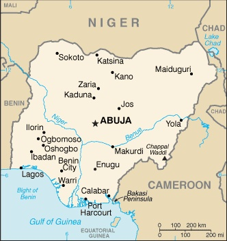 Date: 02/08/2012 Description: Map of Nigeria, 2012 © CIA World Factbook