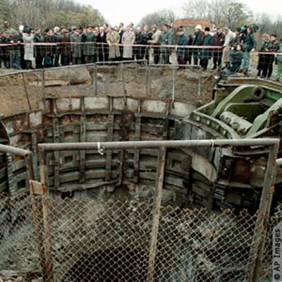 This photo shows a missile silo in Ukraine's Khmelnitsky oblast just before it was destroyed under the terms of the Nunn-Lugar Cooperative Threat Reduction Program.