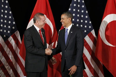 President Obama and PM Erdogan of Turkey at the Nuclear Security Summit in Seoul.