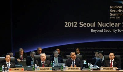 President Obama speaks during the 2012 Seoul Nuclear Security Summit on March 27, 2012 in Seoul, South Korea.