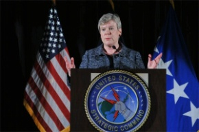 Date: 08/09/2012 Description: Acting Under Secretary for Arms Control and Verification Rose Gottemoeller delivering remarks at the U.S. Strategic Command 2012 Deterrence Symposium in Omaha, NE. - State Dept Image