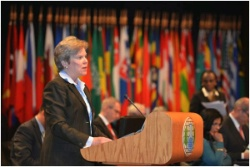 Date: 04/09/2013 Location: The Hague, Netherlands Description: Acting Under Secretary for Arms Control and International Security Rose Gottemoeller delivering remarks at the 3rd Session of the CWC Review Conference.   - State Dept Image