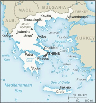 Date: 09/2013 Description: Map of Greece. © CIA World Factbook