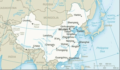 Date: 09/30/2013 Description: map of China © CIA Image