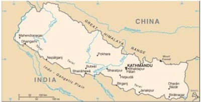 Description: Map of Nepal