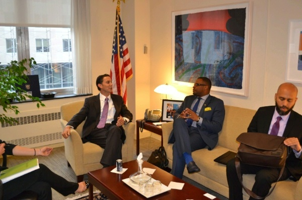 Special Envoy Amos Hochstein meets with St. Kitts and Nevis Foreign Minister Mark Brantley to discuss geothermal and energy security in the Caribbean.