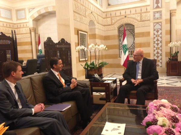 Special Envoy Amos Hochstein and U.S. Ambassador to the Lebanese Republic David Hale meet with PM Tammam Salam to discuss transparent & sustainable development of hydrocarbon sector.