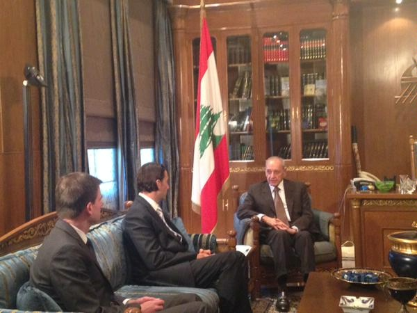 Special Envoy Amos Hochstein and U.S. Ambassador to the Lebanese Republic David Hale meet Nabih Berri, Speaker of the Parliament of Lebanon.