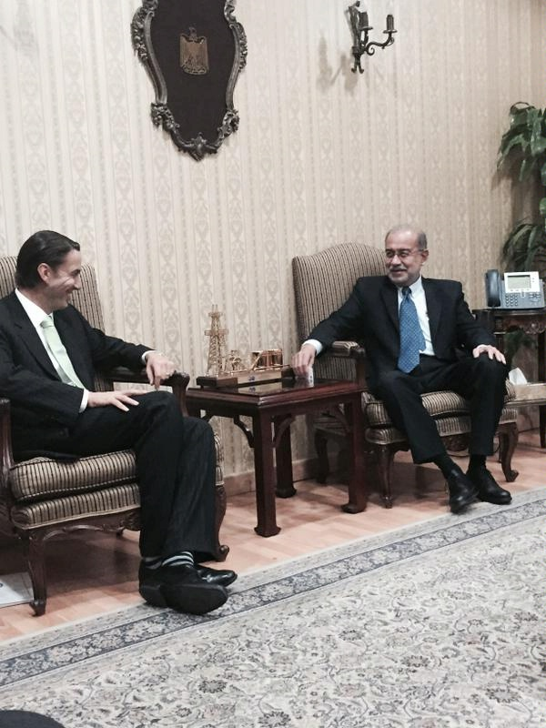 Special Envoy Hochstein meets with Egyptian Minister of Petroleum Sherif Ismail.