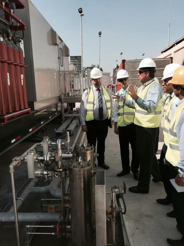 Special Envoy Hochstein visits GE's fast track power generation site in New Cairo.