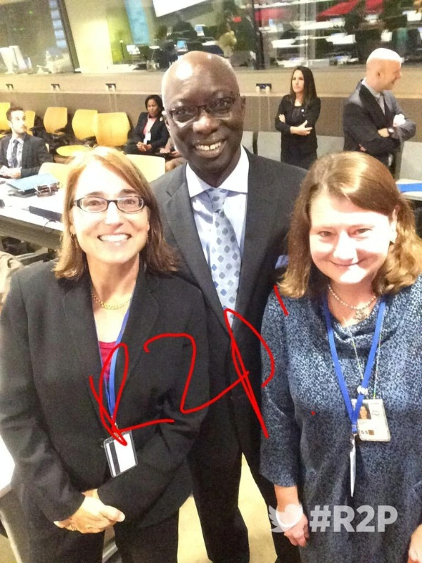 Under Secretary Sewall and Deputy Assistant Secretary Holt join UN Special Advisor for the Prevention of Genocide Adama Dieng to mark ten years of R2P at UNGA 70.