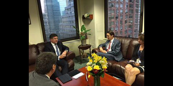 On the margins of UNGA, Special Envoy Hochstein meets with Slovakian Foreign Minister Miroslav Lajcak to discuss energy security in Europe.
