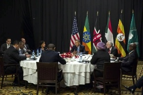 Date: 07/28/2015 Location: Washington, DC Description: President Obama and Special Envoy for Sudan and South Sudan - State Dept Image