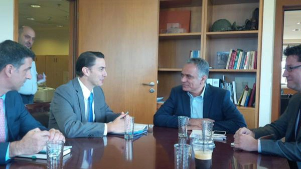 Special Envoy Hochstein meets with Greek Energy Minister Panos Skourletis to discuss regional energy security.