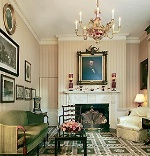 Date: 12/16/2013 Description: Photo showing the Lincoln Room of Blair House that displays Civil War-era artifacts from the family collection, including rare political cartoons and prints, a Mathew Brady photograph, and documents signed by Lincoln. - State Dept Image