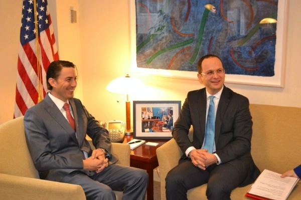 Special Envoy Hochstein meets with Albanian Foreign Minister Ditmir Bushati for a discussion on energy security issues.
