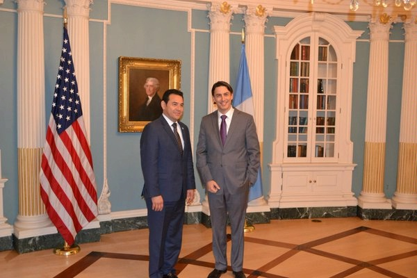 Special Envoy Hochstein meets with Guatemalan President Jimmy Morales for a discussion on regional energy security.