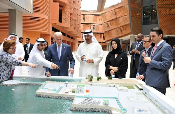 "Special Envoy Amos Hochstein with Vice President Joe Biden in Masdar City.  A true ""green print"" for cities of the future."