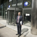 Date: 04/05/2016 Description: Haiti Special Coordinator Merten visited the European External Action Service (EEAS), the European Union's diplomatic service, to continue multilateral coordination with the European Union on Haiti.  - State Dept Image