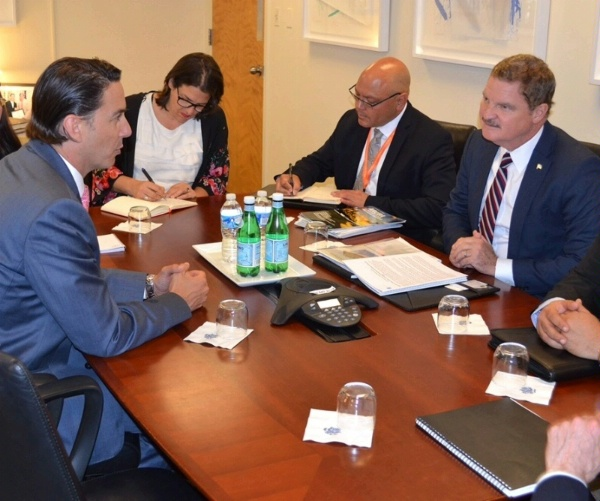 Special Envoy Hochstein and Aruba Prime Minister Mike Eman meet before the May 3-4 U.S.-Caribbean-Central American Energy Summit to discuss Aruba's advances in renewable energy deployment and leadership under the Green Aruba platform.