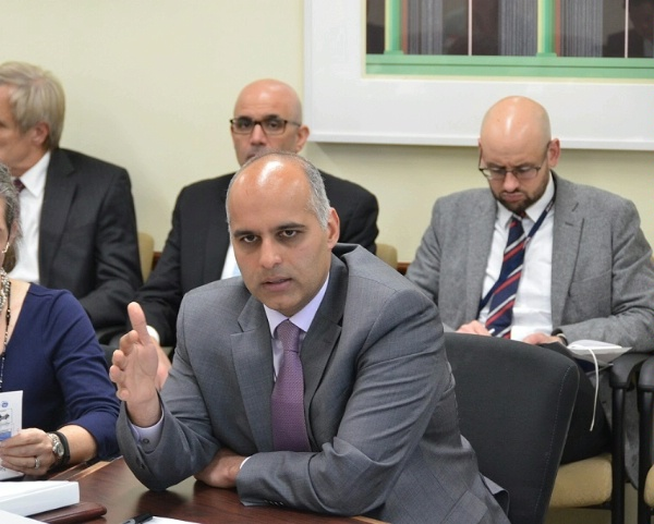 Joining other State Department officials, Special Representative Haider meets with private sector representatives to review opportunities for U.S. industry in M.E.N.A & S.E. Asia.