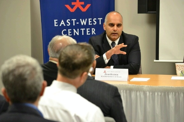 Special Representative Haider outlines the goals of U.S. engagement in ASEAN at the East West Center in Washington, DC