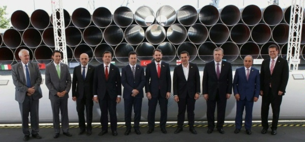 Special Envoy Hochstein joins official representatives of the EU and high ranking officials from Greece, Turkey, Albania, Italy, and Bulgaria in a ceremony marking the construction of the Trans Adriatic Pipeline (TAP), a milestone for the energy landscape of Europe and a strategic project for Europe transporting new sources of Caspian gas via a new route commencing in 2020 and for years to come.