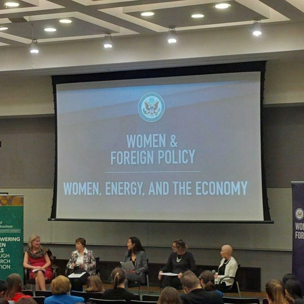 DAS Melanie Nakagawa chairs a panel on Women, Energy and the Economy.