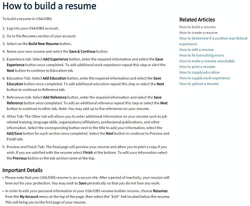 resume for usajobs Oylekalakaarico