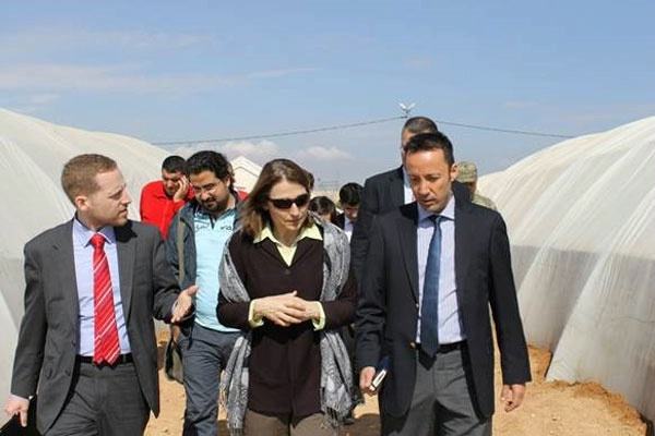Under Secretary for Civilian Security, Democracy, and Human Rights Sarah Sewall visits a refugee camp in Turkey, where she met with Syrians who fled their homes as a result of the conflict. (April 2014)