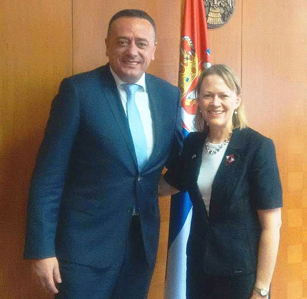 Principal Deputy Assistant Secretary Mary Warlick meets with Serbian Energy Minister Aleksandar Antic