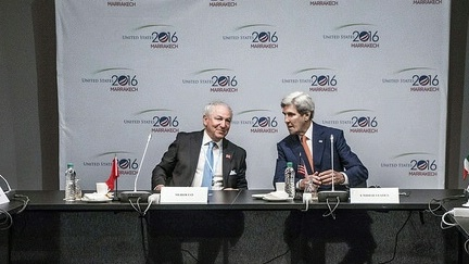 Secretary Kerry and Moroccan Ambassador Mekouar host The Major Economies Forum On Energy And Climate Ministerial Meeting